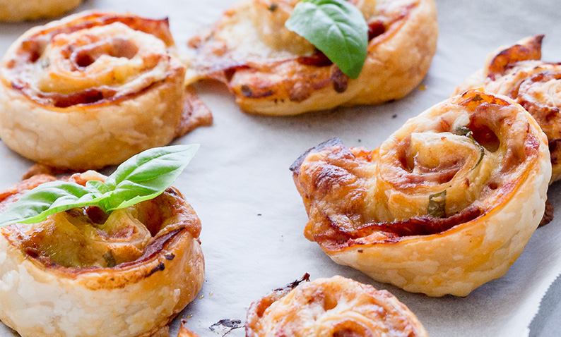 Salami and Cheese Pinewheels