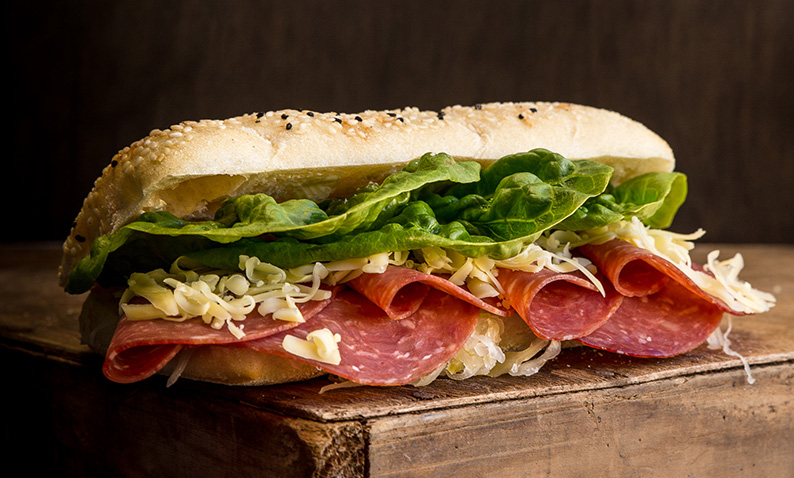 Gourmet Sandwich with Salami