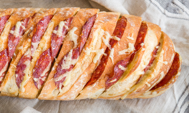 Salami and Cheese Pull-Apart Bread